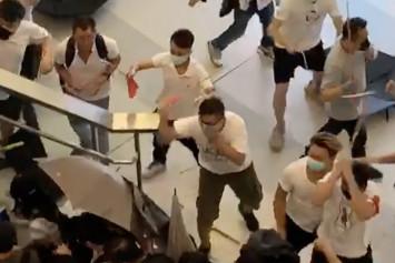 White-clad mob brutally attacks Hong Kong protesters at MTR station, injuring 36