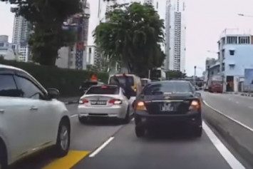 Jaywalking pedestrian sent flying after being hit by car along Balestier Road