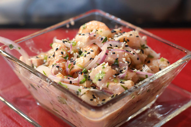 Ceviche, originally a Peruvian dish of fresh raw fish cured in citrus juices and seasoned with chopped onions, chillies and cilantro, is now part of contemporary Argentinian cuisine