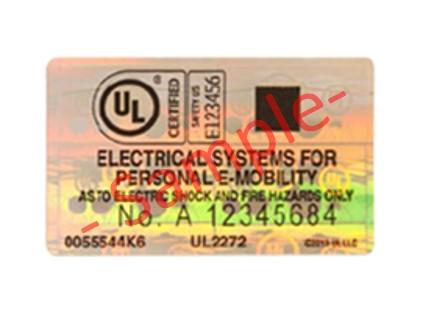 A sample of the UL2272 certification mark. (Photo: LTA)