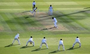Ireland's Andy McBrine loses his wicket to England's Stuart Broad.