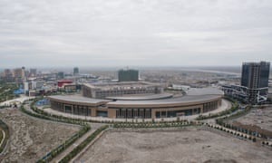 The city of Khorgos – a key dry port on the New Silk Road – rises from the steppe on the China-Kazakhstan border.