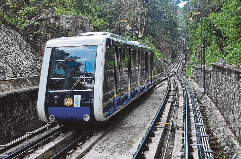 About 500 people were affected by the Penang Hill funicular service disruption for over two hours since 10am today. — Picture by Sayuti Zainudin