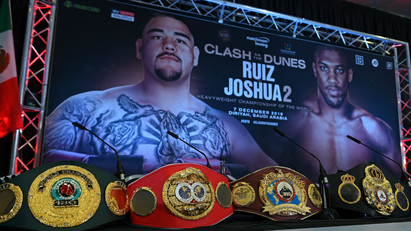 Andy Ruiz Jr vs. Anthony Joshua II: the WBA, IBF, WBO and IBO heavyweight belts are on the line in Saudi Arabia