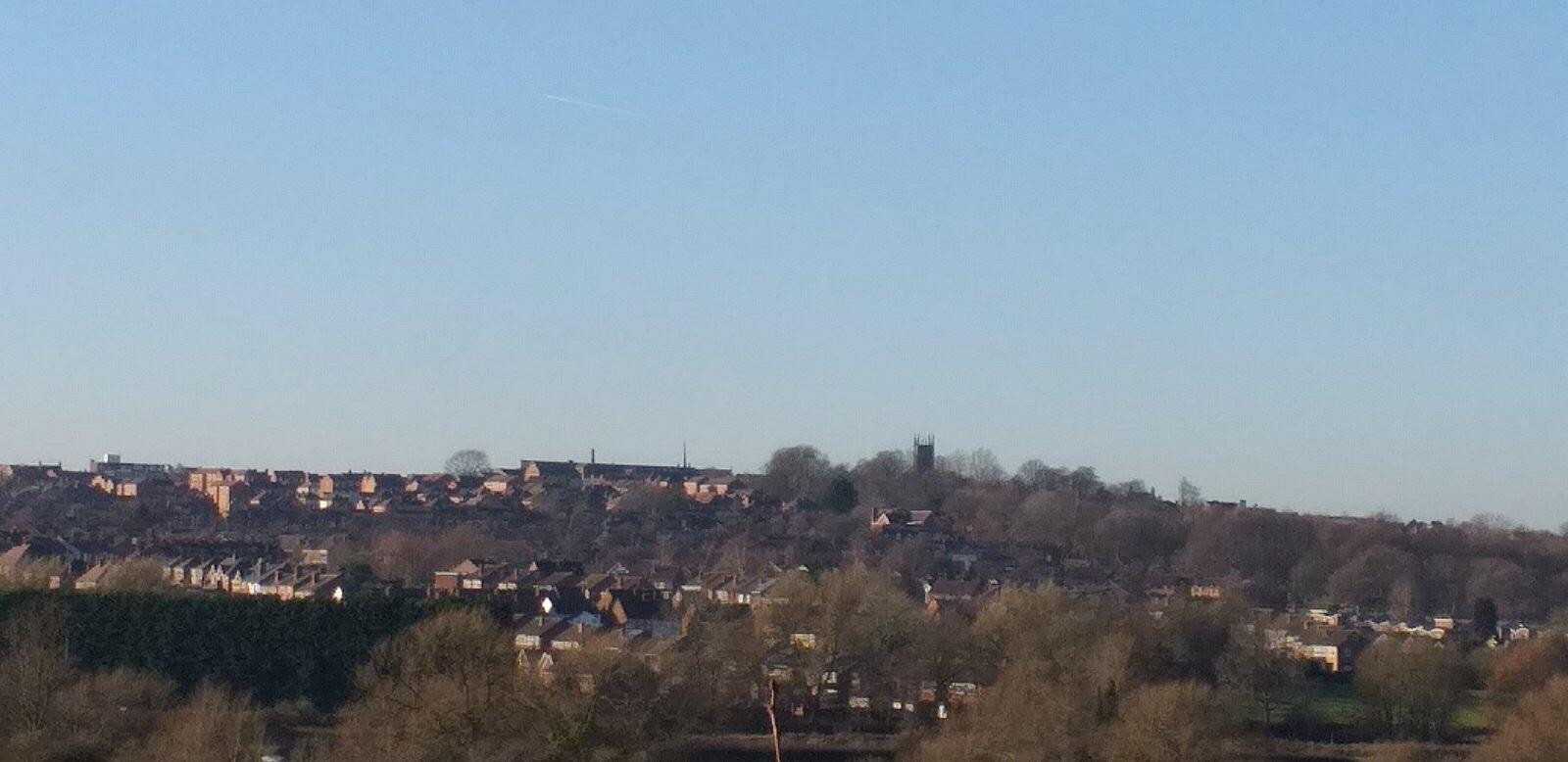 A view of Ilkeston from the nearby village Cossall