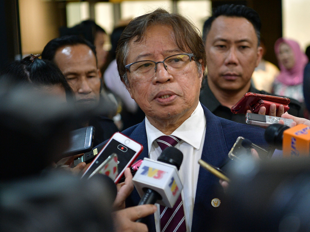 Sarawak Chief Minister Datuk Patinggi Abang Johari Openg says the Semenggoh Wildlife Centre has been awarded the World Excellence Tourism Awards 2020 under the category of Sustainable Tourism Programme. — Bernama pic