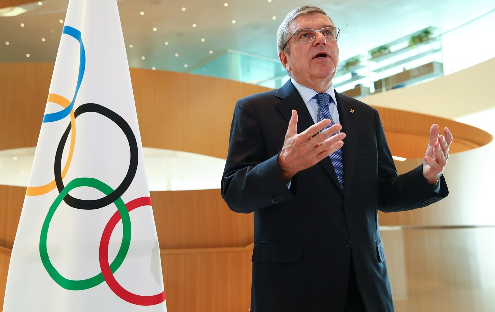 President of the International Olympic Committee Thomas Bach attends an interview in Lausanne March 25, 2020. — Reuters pic
