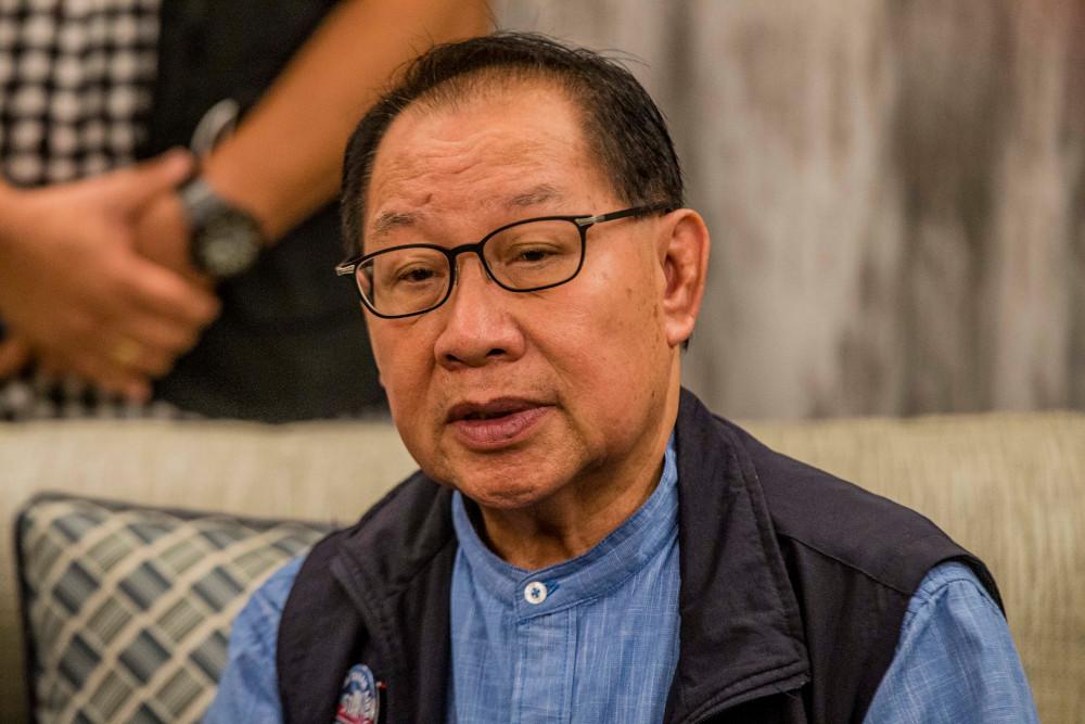 Datuk Jeffrey Kitingan speaks during a press conference in Kota Kinabalu, Sabah September 22, 2020. — Picture by Firdaus Latif