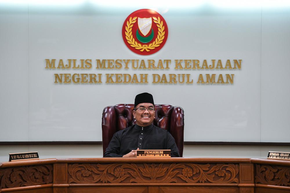 Kedah Mentri Besar Muhammad Sanusi Md Nor after the swearing-in ceremony of state executive council members at Wisma Darul Aman in Alor Setar May 20, 2020. — Bernama pic
