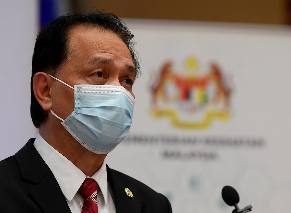 Director-General of Health Tan Sri Dr Noor Hisham Abdullah at a daily press conference on Covid-19 statistics at the Ministry of Health, January 6, 2021. — Bernama pic