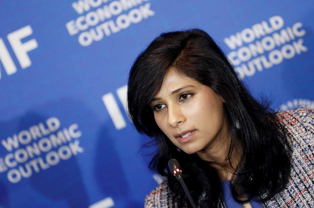 Gita Gopinath speaks during a news conference in Santiago, Chile July 23, 2019. — Reuters pic