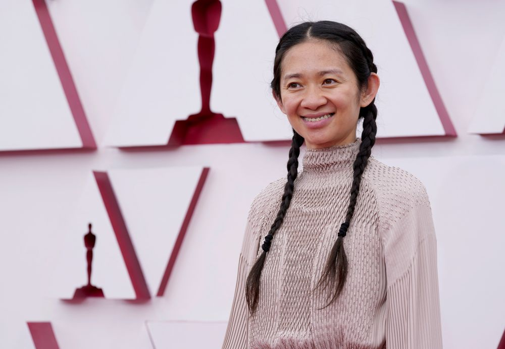 Chloe Zhao arrives at the 93rd Academy Awards, at Union Station, in Los Angeles April 25, 2021. — Reuters pic