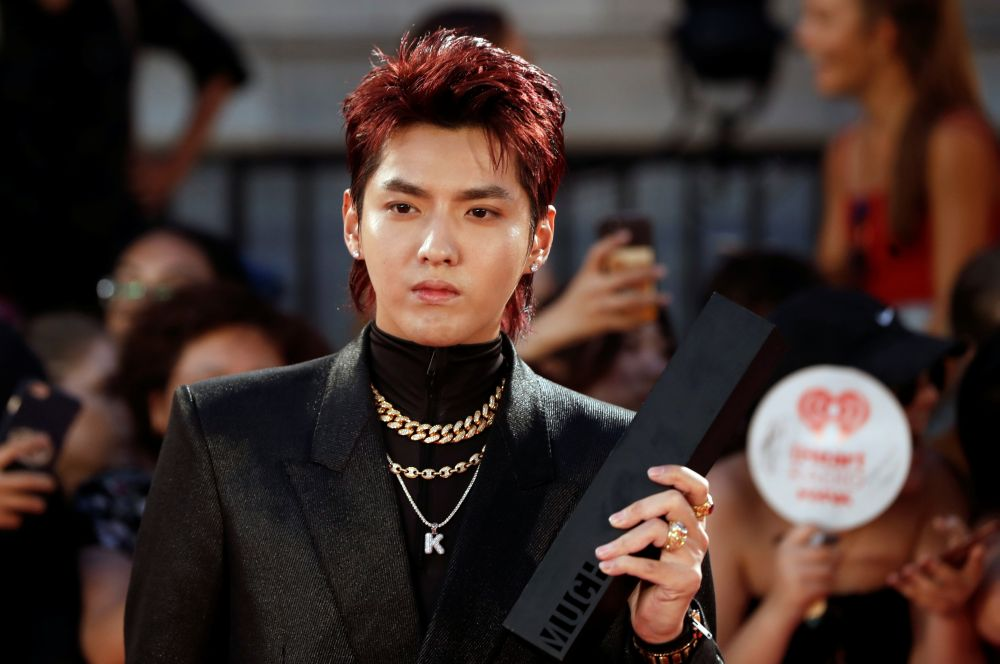 Kris Wu arrives at the iHeartRadio MuchMusic Video Awards in Toronto, Ontario August 26, 2018. — Reuters pic