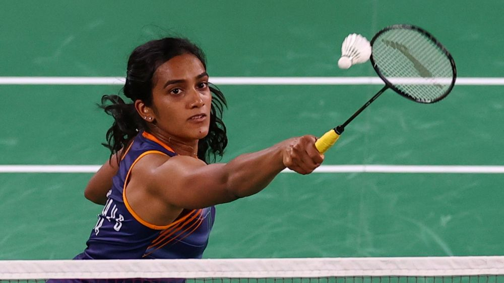 PV Sindhu of India in action during the match against Ksenia Polikarpova of Israel at the Musashino Forest Sport Plaza, Tokyo  July 25, 2021. — Reuters pic