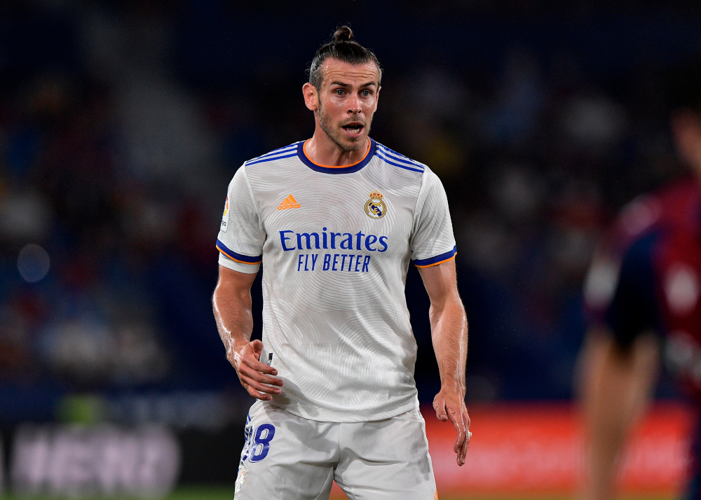Real Madrid's Gareth Bale reacts during the match against Levante at Estadio Ciudad de Valencia, Valencia, Spain, August 22, 2021. — Reuters pic