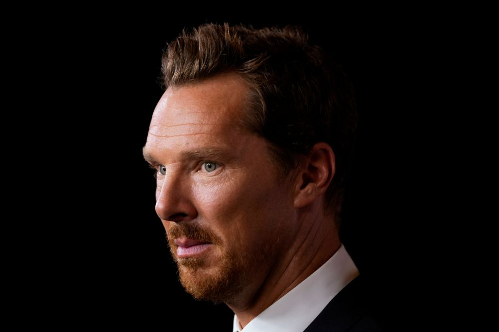 Benedict Cumberbatch looks on at the premiere of 'The Power of the Dog' at the Toronto International Film Festival in Toronto September 10, 2021. — Reuters pic
