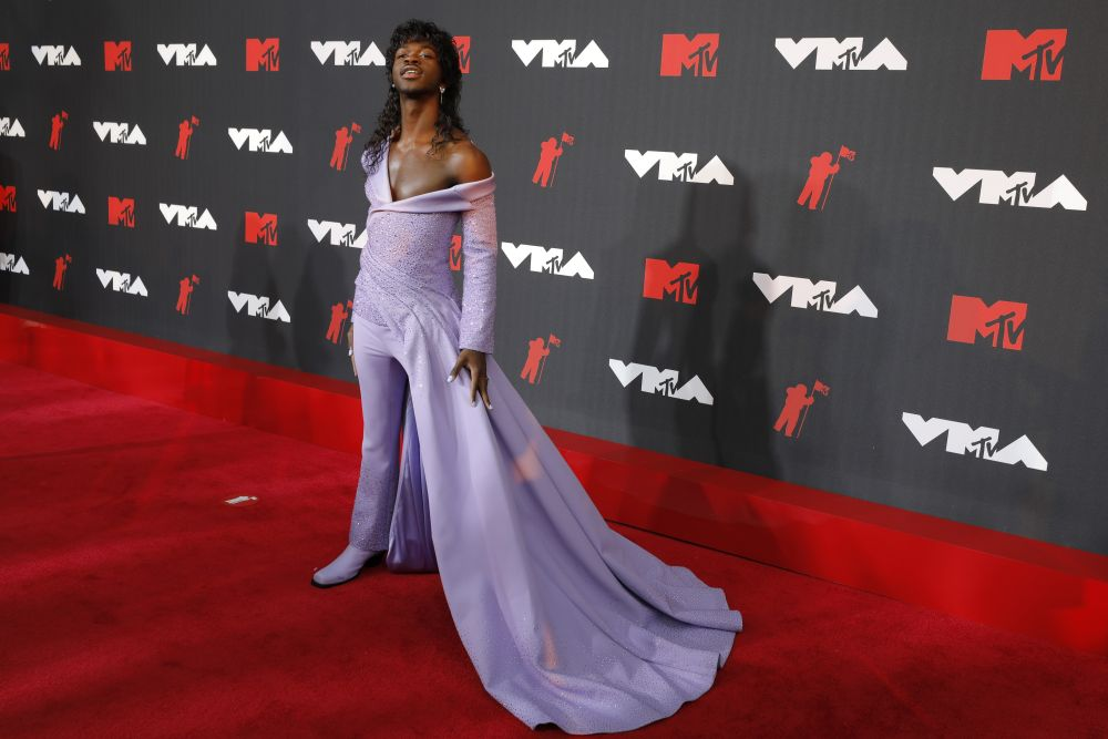 Lil Nas X arrives for the MTV Video Music Awards at the Barclays Centre in New York September 12, 2021. — Reuters pic