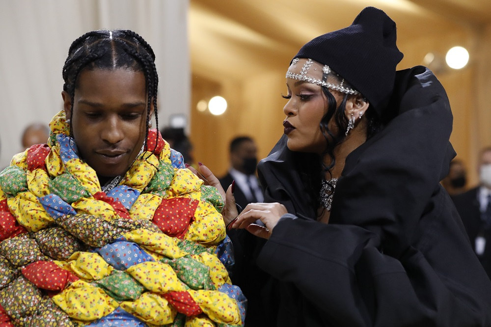 ASAP Rocky and Rihanna arrive at the Metropolitan Museum of Art Costume Institute Gala in New York September 13, 2021. — Reuters pic