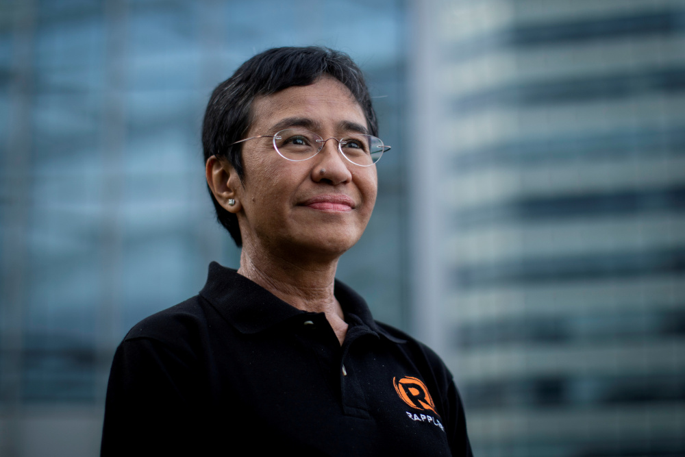 Filipino journalist and Rappler CEO Maria Ressa, one of 2021 Nobel Peace Prize winners, poses for a portrait in Taguig City, Metro Manila October 9, 2021. — Reuters pic